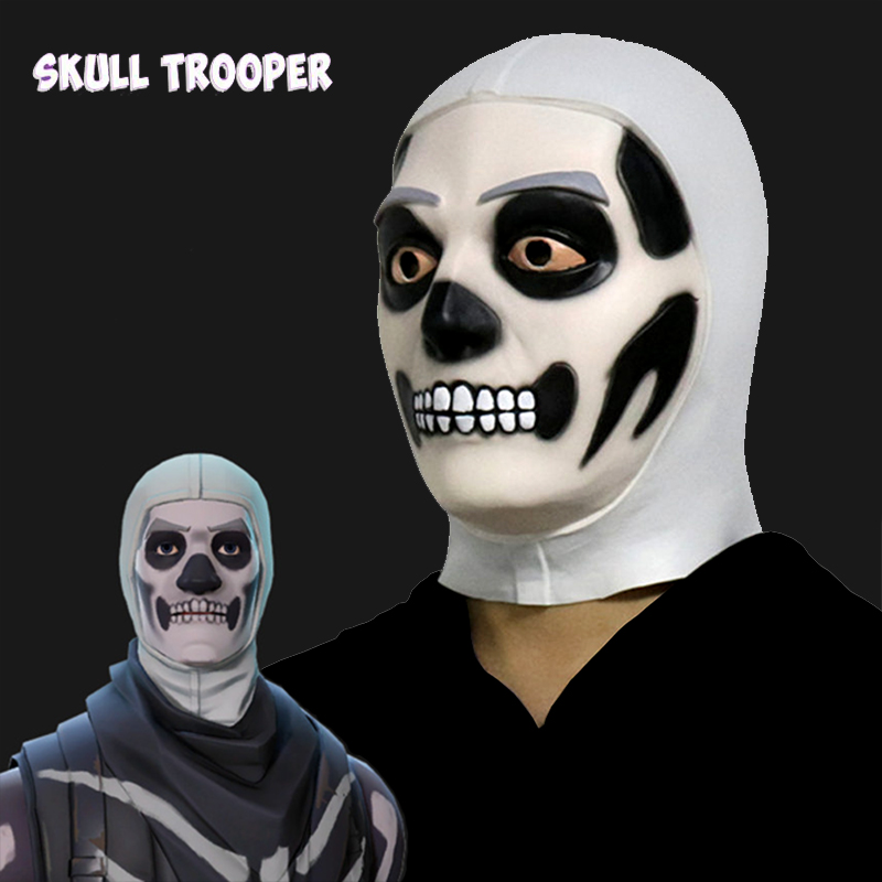 Battle Royale Skull Trooper Mask Cosplay Masks Latex Helmet Full Face Halloween Carnival Party Props Dropship