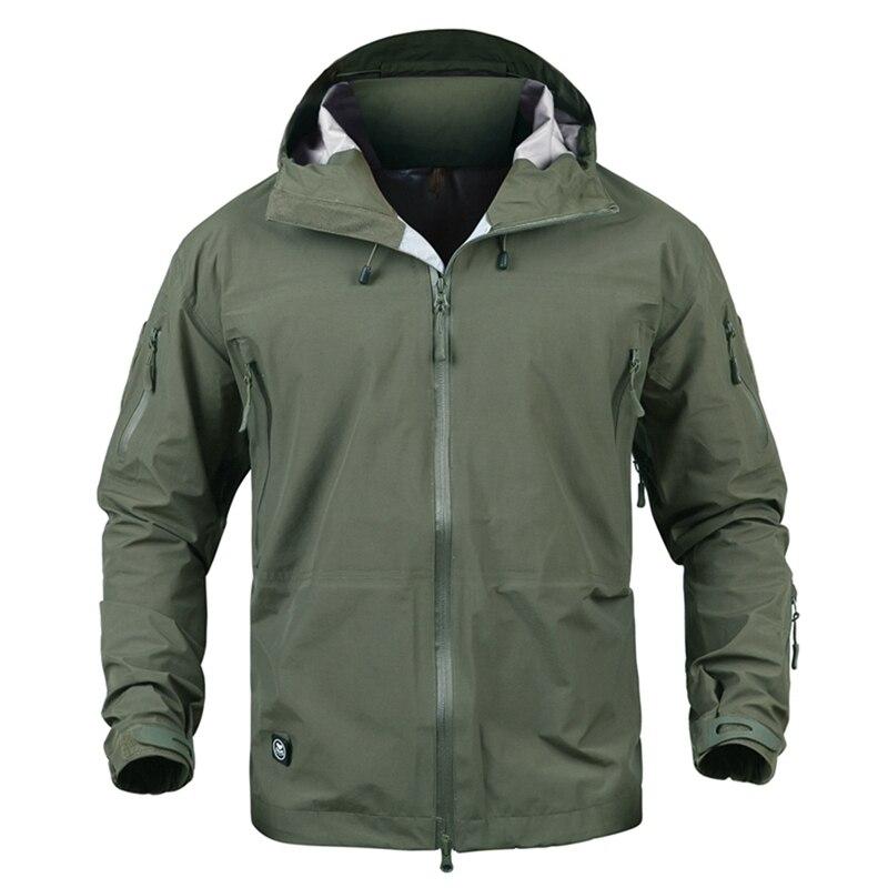Veste militaire de Camouflage imperméable à l'eau en plein air hommes coquille dure randonnée coupe-vent veste tactique à capuche Camping vestes