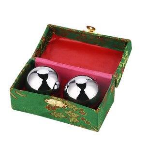 Image 5 - 2 adet Baoding topları çin sağlık egzersiz stres topları 39mm Metal meridyen topu el beyin egzersiz ile saklama kutusu 31