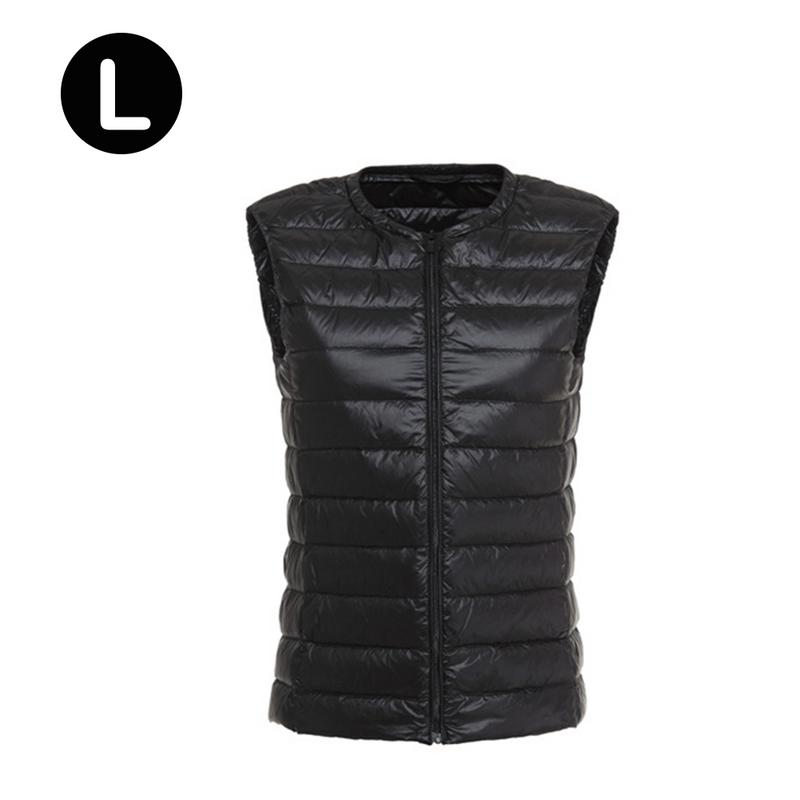 Down Vest Mid-age Women Ladies Ultra-Thin Slim Short Fashion Versatile Round Neck Solid Color Soft Simple Vest Tops S-3XL Newly