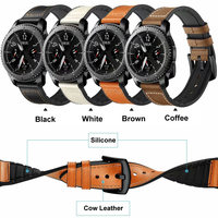 Sport Watch Strap For Huami Amazfit 1 2 Genuine Leather With Rubber Watchbands For Samsung Gear S3 Bracleelt For Huawei Watch 2P