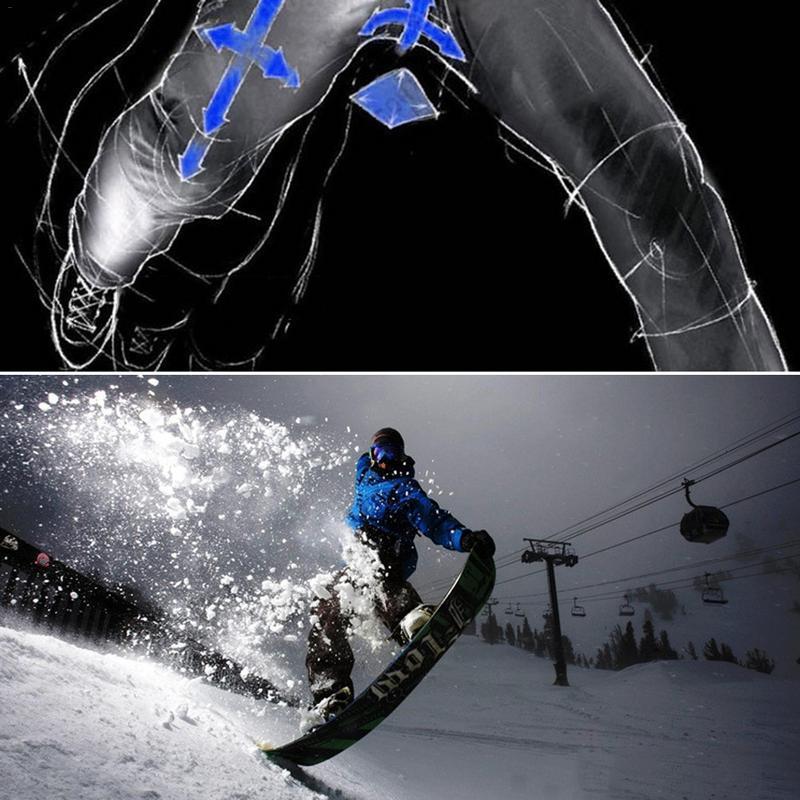 Winter Denim Ski Pants Legging For Men Veneer Double Board Snowboard Windproof Warm Thickened Pants For Men