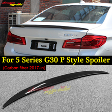 G30 Spoiler Rear Trunk Wing tail P Style Carbon Fiber for bmw 520i 520d 530i 530d 540i 550i 17+