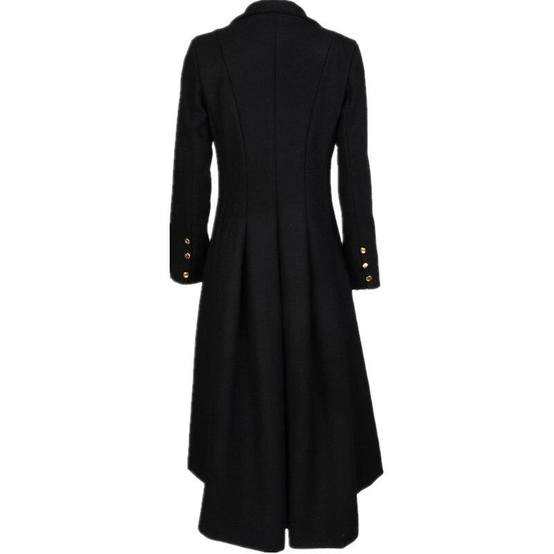 7 Long Noir D'aronde Queue Outwear Plissée Femmes La Laine Hiver Goth Tranchée Automne Machaon 6xl Manteau Taille 2018 Femelle amp; En 5xl Plus pvIn4aBpq