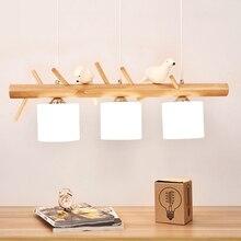 Modern Resin Bird Pendant Lights Led Lamp Living Room Restaurant Decor Kitchen Fixtures Hanging Lighting Luminaire