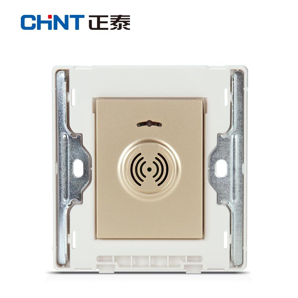 Interrupteur de retard de contrôle du son CHINT interrupteur mural NEW2D lumière Champagne or interrupteur de retard de contrôle du son et de la lumière - 4