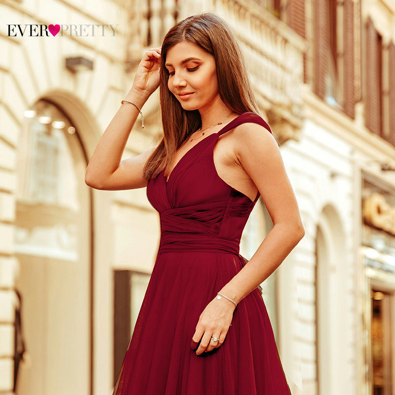 Pink Bridesmaid Dresses For Women Ever Pretty Elegant A Line Long Dress Wedding Party Formal Guest Robe Demoiselle D 39 honneur in Bridesmaid Dresses from Weddings amp Events