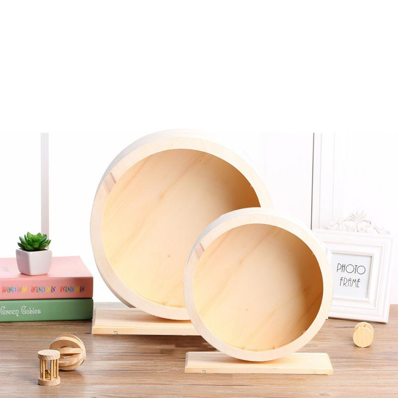 Pet Wooden Sports Wheel Mute Hamster Running Wheel Pet Toy Wheel For Hamsters, Mice, Mice And African Hedgehogs