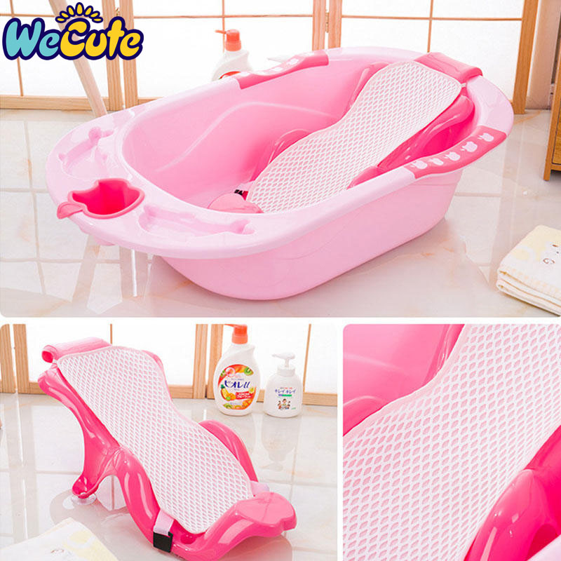Wecute Baby Bath Tub Newborn Infant Bathing Pad Baby Care Toys Non-slip Safety Net Tub Baby Shower Portable Bath Pad Mat