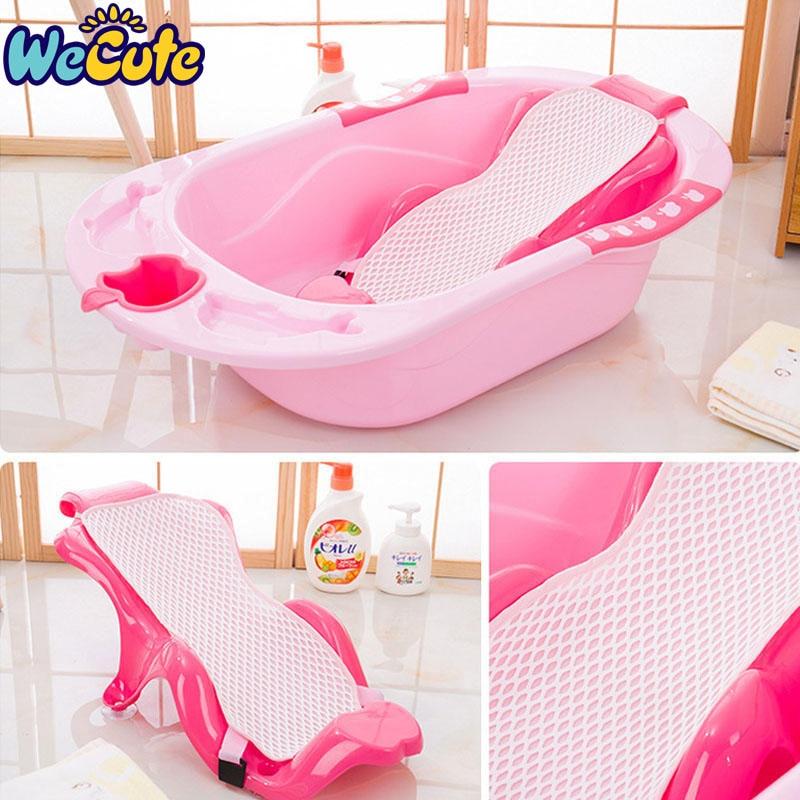 Wecute Baby Bath Tub Newborn Infant Bathing Pad Baby Care Toys Non-slip Safety Net Tub Baby Shower Portable Bath Pad Mat