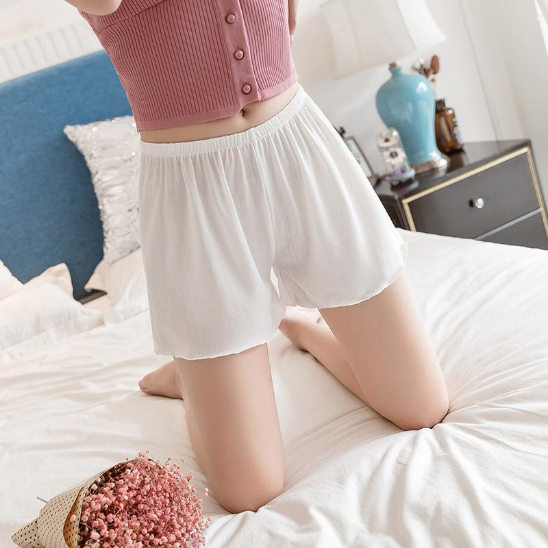 MISSKY 2019 New Summer Women Safety Short Soft Solid Color Seamless Pants Hot Sale Summer Under Skirt Shorts Breathable Shorts