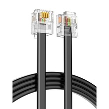Качество 5 м 4C телефонной линии RJ11 6P4C разъем телефонный кабель чистый Медь провод для АТС аналоговый цифровой телефон Настраиваемые 1-100 м