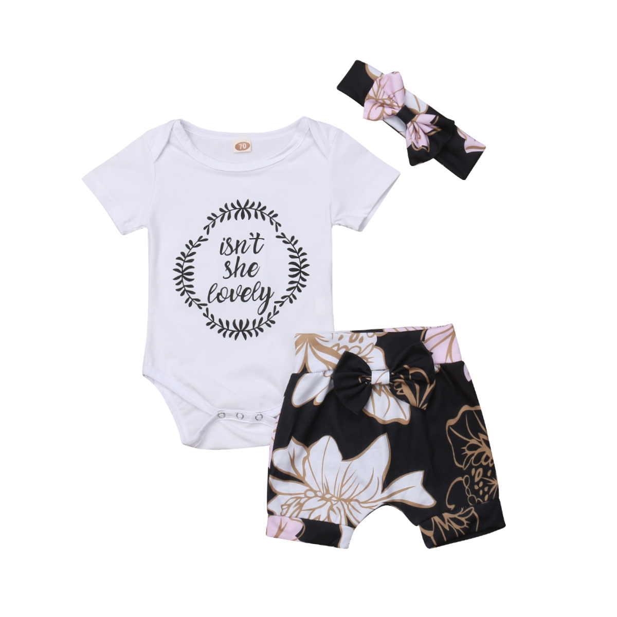 0-2Years,SO-buts Summer Newborn Baby Girls Lovely Ruffle Solid Bodysuit Jumpsuit Clothes Romper