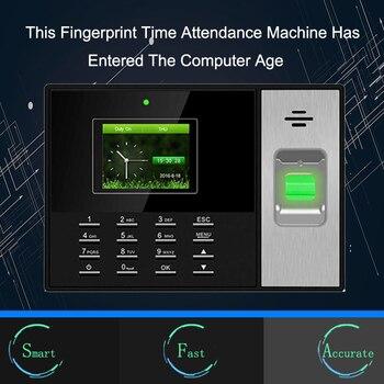 Biometric Attendance System TCPIP Fingerprint Access Control Time Clock USB Employee Office Fingerprint Reader Time Attendance fingerprint id carddoor access control password fingerprint time attendance threatens anti dismantlement unlock illegally alarm