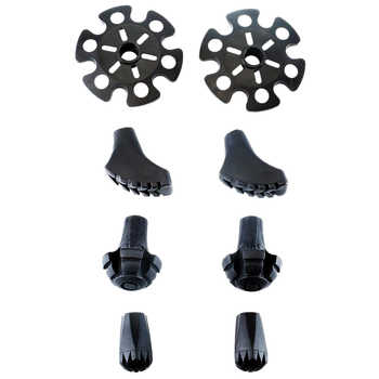 Juego de puntas de goma de repuesto para postes de senderismo-4 pares de pies resistentes y resistentes para bastones de senderismo/bastones para caminar
