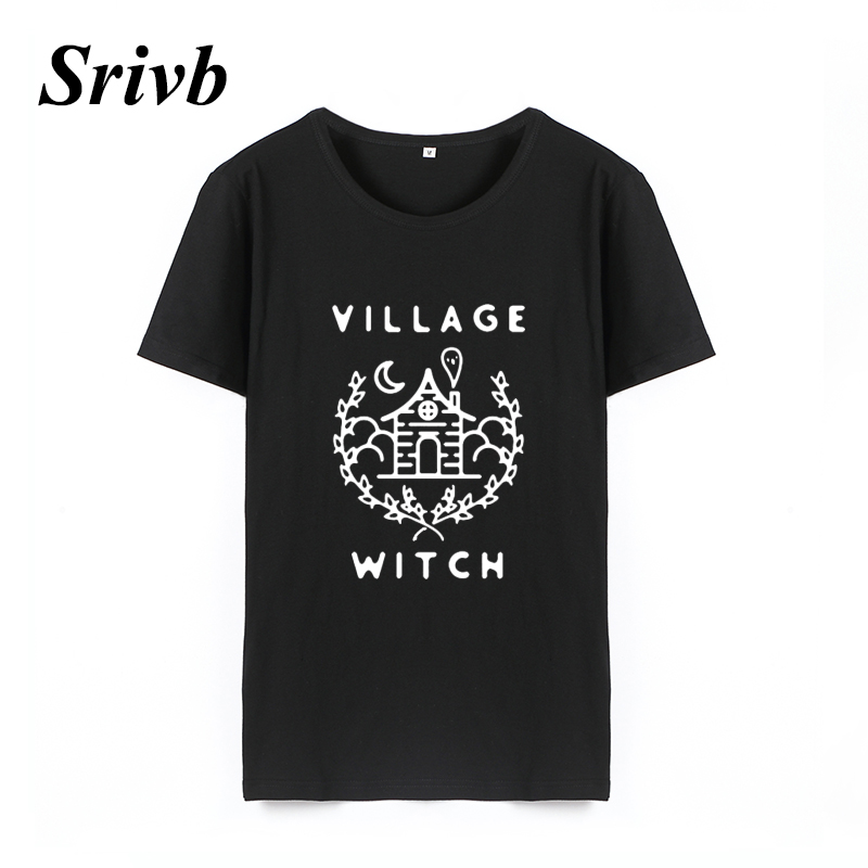 728d0ef4 Srivb Village Witch The New Cotton Graphic Tee Women Harajuku 2018 Summer  Hip Hop Cartoon Tshirt Women Tumblr Funny Women Tshirt