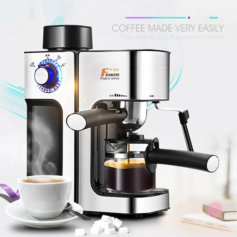 0.24L 5 tasses cafetière électrique/Machine à mousse de lait bureau expresso Style italien isolation automatique Machine à café électrique