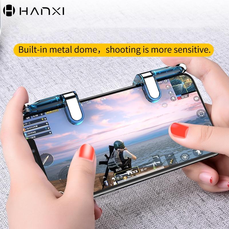 Phone Game Metal Trigger Fire Button Sensitive Aim Joysticks