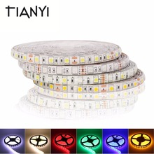 5050 DC 24V RGB LED Strip Waterproof 5M 300LED Luz LED