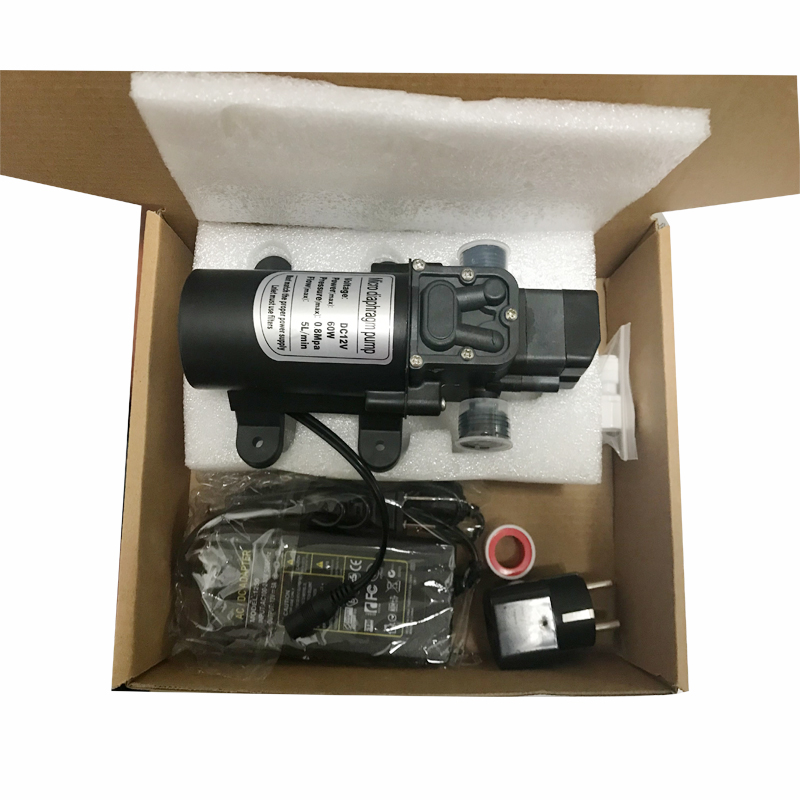 12V 6A 60W Self Priming Fine Mist Spray, Micro Diaphragm Pump With AC To DC Adapter Power Supply For Mist System