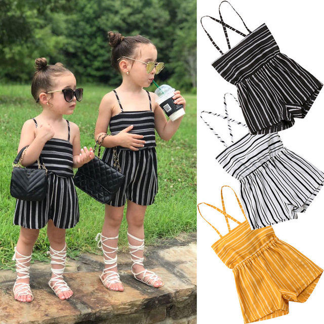 0a72abb3c07c Pudcoco Girl Clothes Summer Toddler Kids Baby Girls Off Shoulder Rompers  Jumpsuits Playsuit Shorts