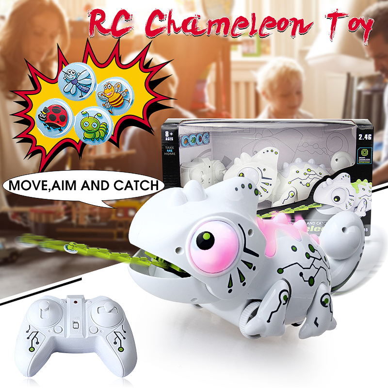 Electronic Pets Remote Control Robot Chameleon Cute Interactive Pet Robot Toy Electronic Toys For Kids Birthday Gift