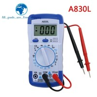 TZT 1PCS A830L LCD Digital Multimeter DC AC Voltage Diode Freguency Multitester Volt Tester Test Current