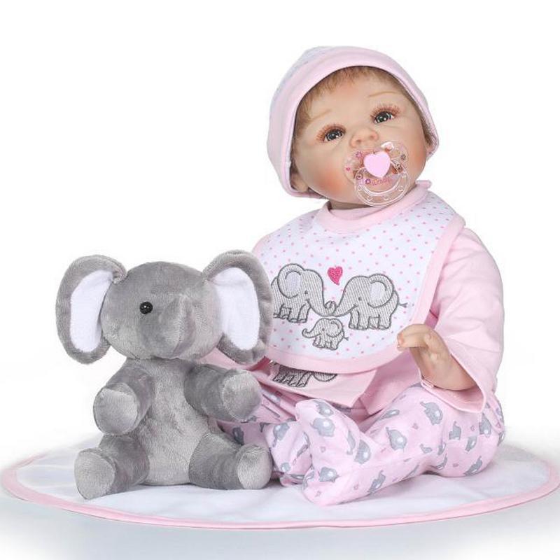 Réaliste lavable couverture Silicone complète simulé entreprise bébé poupée offre spéciale fille jouet pour cadeau de noël début éducation Puzzle