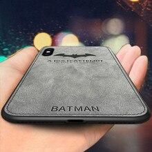 Batman Bez Iphone için kılıf 8 7 XS MAX Artı 8 artı 6 artı XR Lüks Silikon Kılıf Kapak Için Iphone 7 6 s 6 S Artı Tuval Kılıflar...