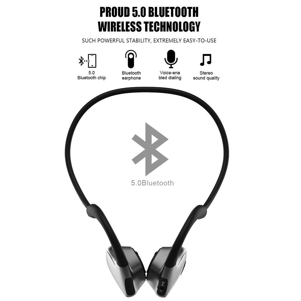 R9 Smart Bone Conduction Bluetooth 5.0 casque sans fil stéréo casque sport bandeau écouteur pour Iphone Xiaomi Huawei téléphone