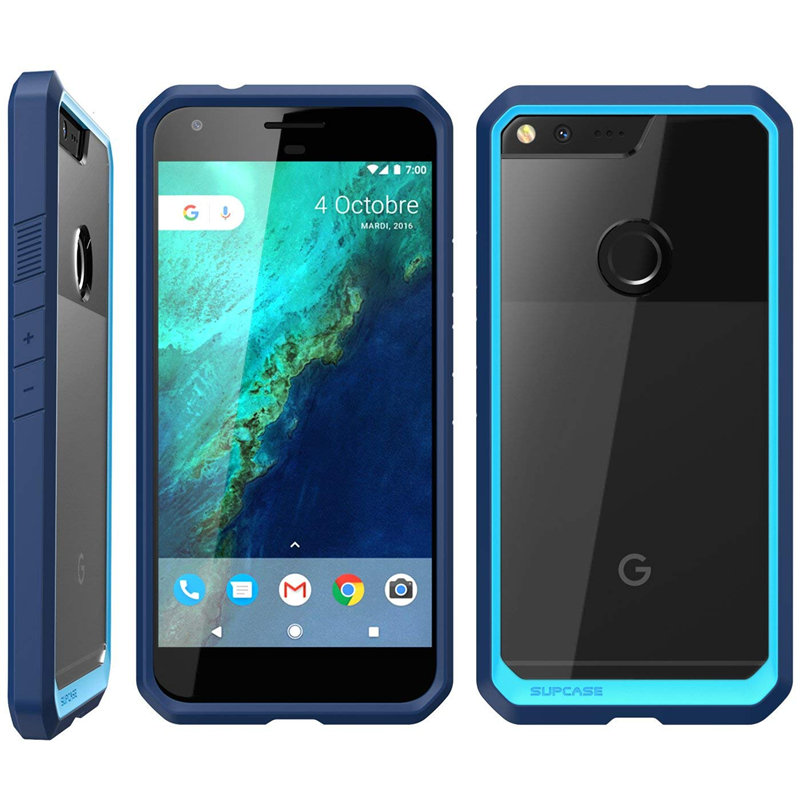 For Google Pixel XL Case (Release) UB Series Premium Hybrid TPU Bumper + PC Clear Back Case Protective Cover