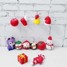 12Pcs Slow Rising Christmas Gift Box Santa Clause Snowman Candy Bell Soft Squeeze Kids Toy With Scented Description