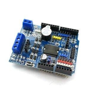 Image 2 - L298P PWM מהירות בקר כפולה גבוהה כוח H גשר נהג, Bluetooth ממשק, l298P מנוע מגן לוח לarduino