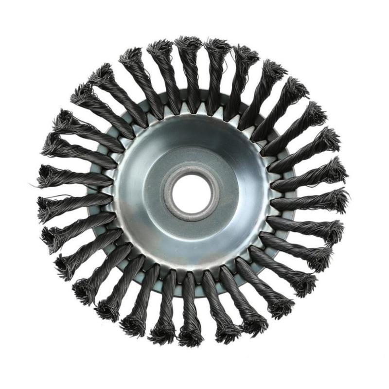 Озеленение Роторная Щетка для сорняков узел круговая, из стальной проволоки щетка дисковая мощность инструментальные машины аксессуары