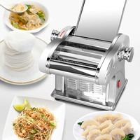 Electric Noodle Press Machine Pasta Maker Commercial Stainless Steel Dough Cutter Dumplings Roller Noodles making for home use