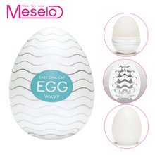 Meselo Wavy Vaginal Eggs Male Masturbator For Man Silicone Artificial Vagina Real Pussy Penis Trainer Adult Sex Toys For Men New