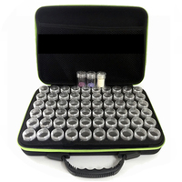 Hot 60 Slots Diamond Embroidery Box Diamond Painting Case Clear Plastic Beads Display Storage Boxes Cross Stitch Tools Green