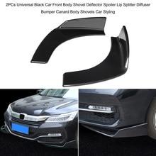 1 пара Универсальный Автомобильный передний дефлектор спойлер сплиттер диффузор бампер Canard губы тела лопаты углеродного волокна бампер сплиттеры