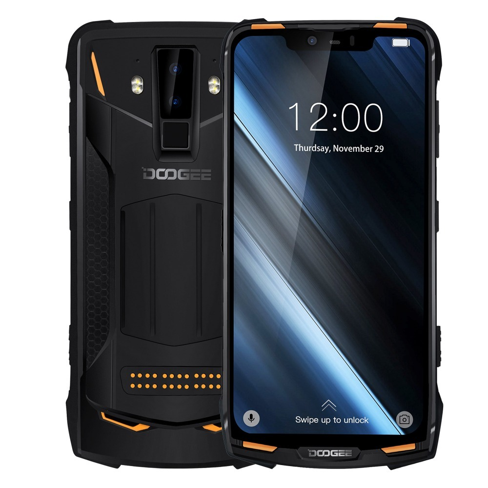 D'origine Ip68 Doogee S90 4g téléphone portable Étanche Antichoc 5050 mah 6.18 ''Mt6671 6 gb 128 gb Smartphone 16mp caméra téléphone portable