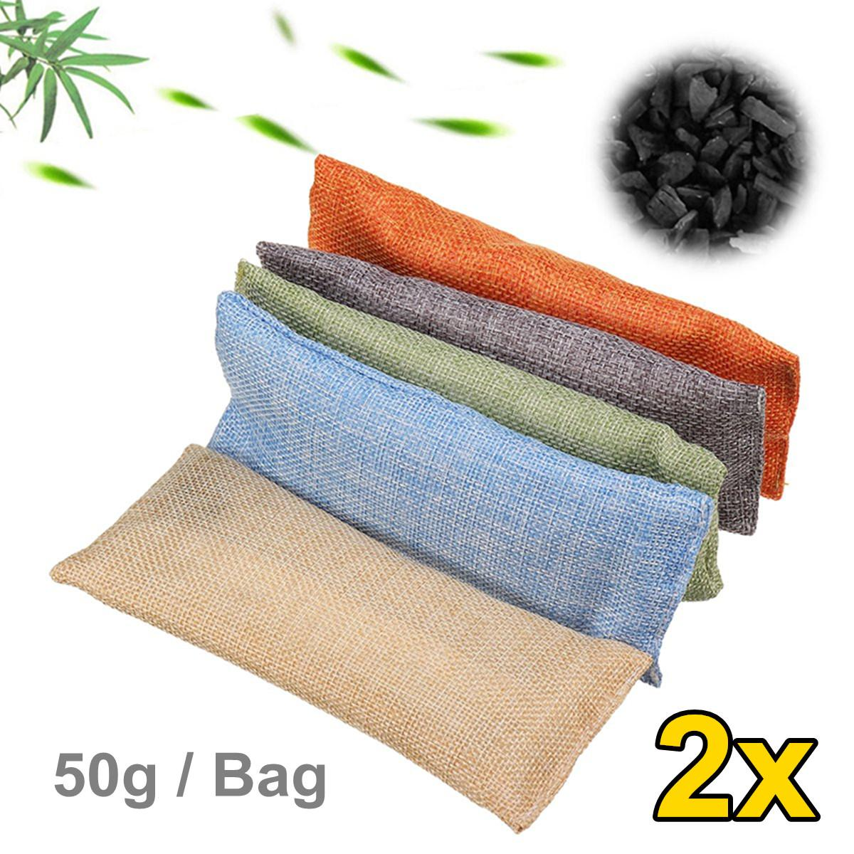 2 Bag/Set Air Purifier Bag Car Home Shoes Bamboo Charcoal Dehumidifier Odor Remover Air Purifying Bag Natural Air Freshener Bags