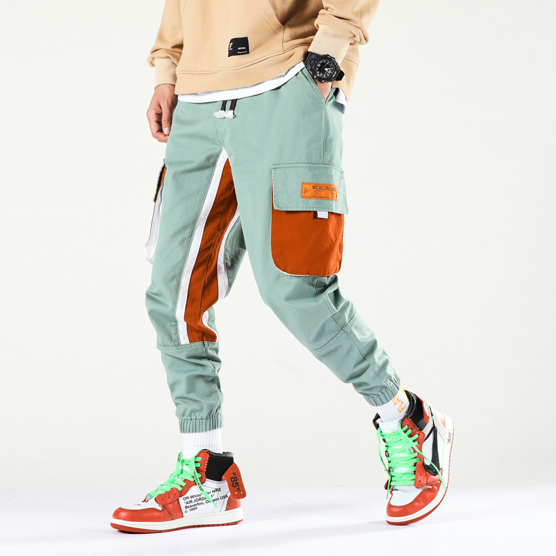 #3410 New Pattern Overalls China Yes Hip hop Male Easy Elastic Haren Leisure Time Upon Closing Bound Feet Pants Nine Part