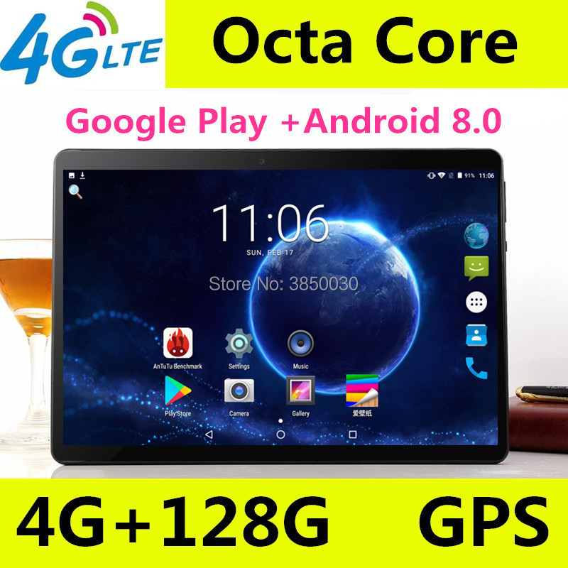 2019 T900 Octa Core 10.1 pouces tablette MTK8752 Android tablette 4 GB RAM 64 GB ROM double SIM Bluetooth GPS Android 8.0 10 tablette PC