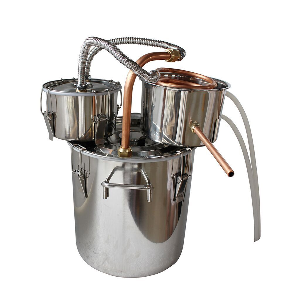 10L 18L Home Distiller Alambic Moonshine Alcohol Beer Brewing Stainless steel Copper Water Wine Making Essential Oil Brewing Set