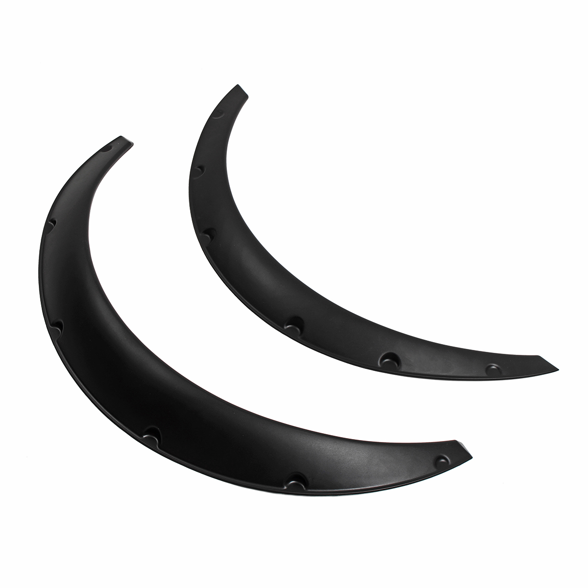 4PCS 90mm Universal Car Fenders Kit Flares Wheel Arch Trim Strip Eyebrow  Protector Cover Automobiles Replacement Parts Black