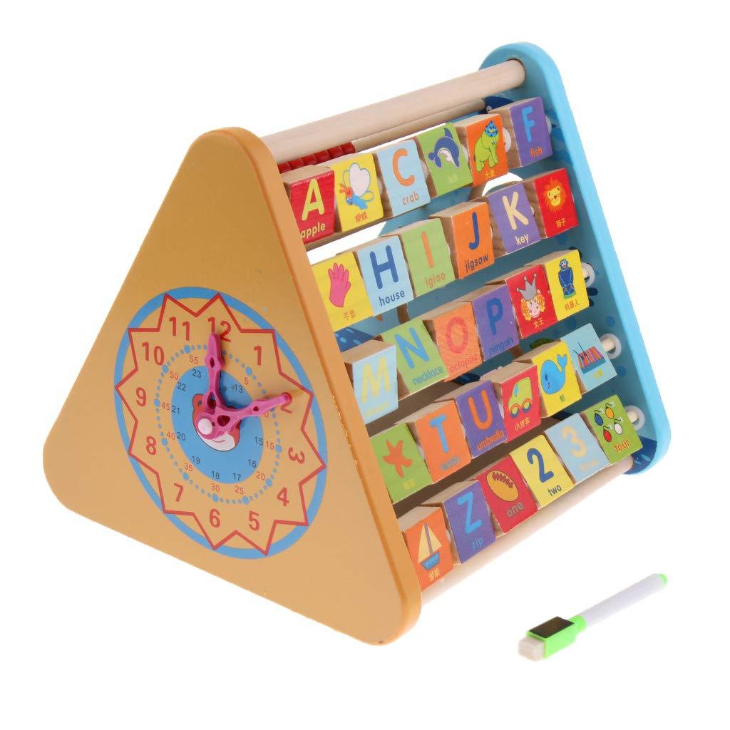 5 en 1 Montessori matériaux Abacus horloge tableau blanc jeu de comptage début d'apprentissage jouets éducatifs cadeau pour enfants enfants