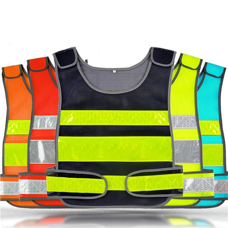 Reflective Cycling Vest Safety Security High Visibility Reflective Vest Gear Outdoor Waterproof Signal Vest Running Coat