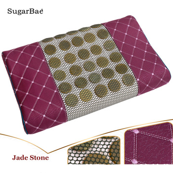 Jade pillow traction bed pillow health care pillow body neck massager heat comfortable gift