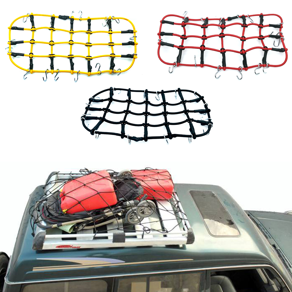 RC Car 1:10 Accesorios red elástica de equipaje para Axial SCX10 90046 Tamiya CC01 RC4WD D90 D110 Traxxas TRX-4 oruga de roca