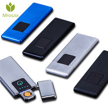Mrosaa Ultra-thin Fingerprint Touching Sensor Cigarette Lighter Rechar