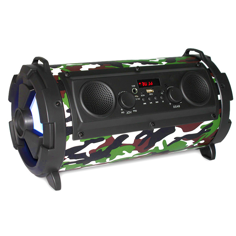 Outdoor Portable Wireless Bluetooth Speaker Subwoofer and Mic Super Bass Woofer HIFI Stereo Loundspeaker Support TF USB FM Radio exrizu ms 136bt portable wireless bluetooth speakers 15w outdoor led light speaker subwoofer super bass music boombox tf radio